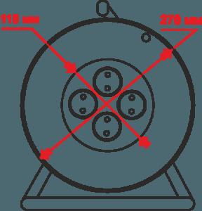 удлинитель на катушке электрон